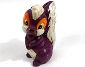 SKUNK Decor Chalk ware BANK / Carnival Decor // Prize // 1960s Purple toy