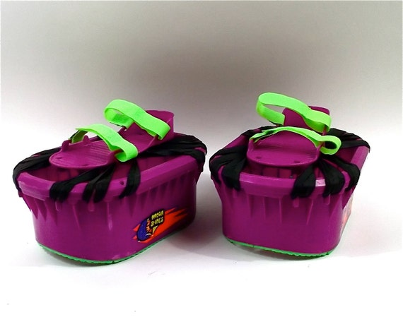 Moon Shoes 1989 Trampoline Boots Amazing Neon Fun Toy