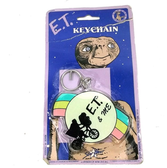 E.T.  Key CHain // 1980s Dead stock vintage collectable // alien 80s kawaii kitsch / Comic Pulp Culture