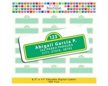 Sesame Street PDF Editable Return Address Labels AUTOFILL (No. 159) Favor Tags Printable Tags/ Stickers/ Labels Avery 5160 8160