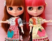 Twin Set - Girlish Sweety Apple dress sets for Blythe doll