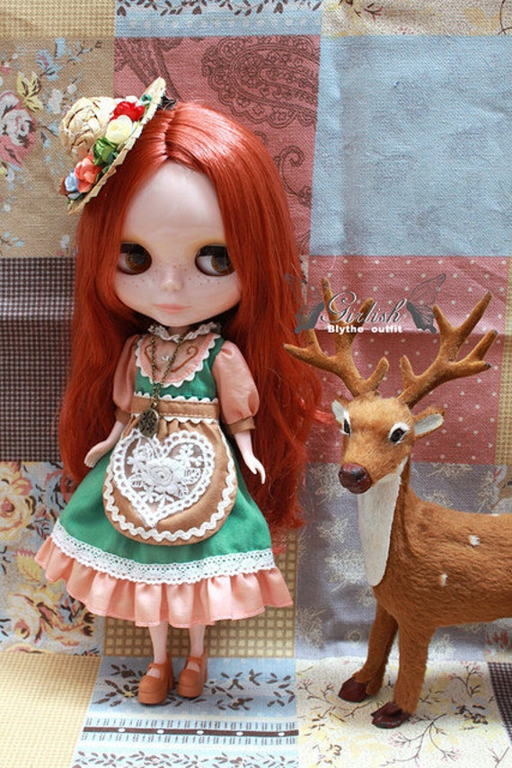 Girlish Pumping Heart dress set for Blythe doll - Blythe outfit