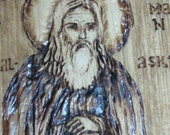 St. Herman of Alaska - Wood Burned Box