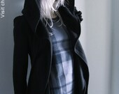 Hooded Coat Black - 2040 Chrisst fleecy long jacket is the sophisticated winter coverup you won't want to take off. Special Online Price.