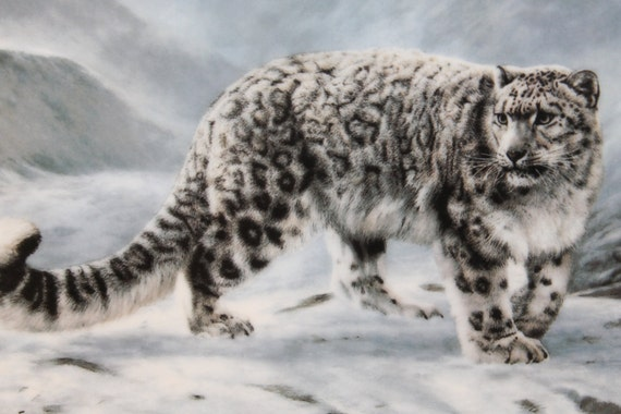 "World's Most Magnificant Cats Charles Frace 1991 ""Fleeting Encounter"""