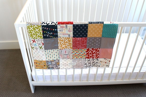 Baby Boy Blanket. Reunion by Sweetwater for Moda Fabrics