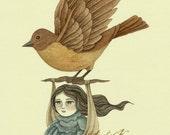 Original Illustration (Painting) - Midnight Travel by Amalia K - A4
