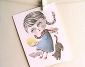 RESERVED for Michelle Suter Unthank CLEARANCE SALE, Original Pencil Drawing, Nursery Decor, Children's Room Art - Follow My Leap