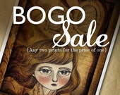 BOGO SALE Fine Art Prints Promotion - Buy any two art prints for the price of one