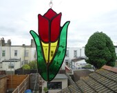 Stained Glass Tulip sun catcher Can be made in different colours