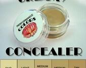 sample CREAMY UNDEREYE CONCEALER - clamshell size. sweatproof, crease-resistant, moisturizing base, longwearing, 6 colors