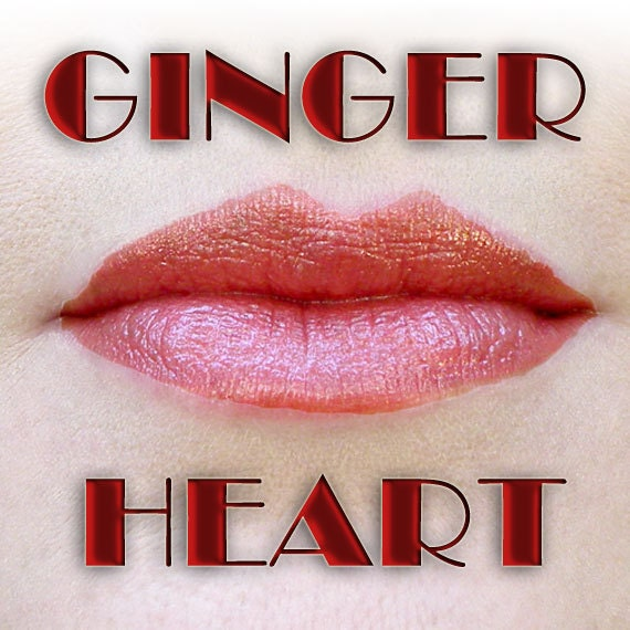 GINGERHEART Restorative Lipcolor in super-saturated, saucy deep pink red, semi-transparent, 5ml