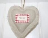 Linen Fabric Heart