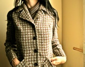 Vintage 1960s Pendleton Houndstooth Fall Wool Jacket