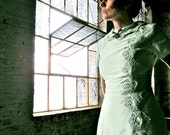 1960s Beautiful Mint Green Raw Silk Shift Dress - Never Worn - Size Small