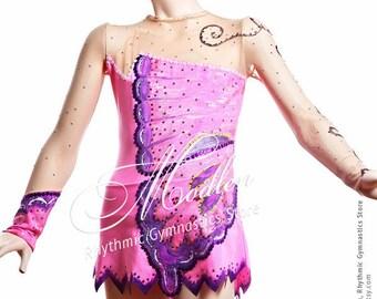 Leotard #12: Rhythmic Gymnastics Leotard, Ice Figure Skating Dress, Acrobatic Gymnastics Costume, Jumpsuit or Dance Dress