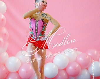 Rhythmic Gymnastics Leotard #44 for Competition | Order as Ice Figure Skating Dress, Acrobatic Gymnastics Costume or Baton Twirling Leotard