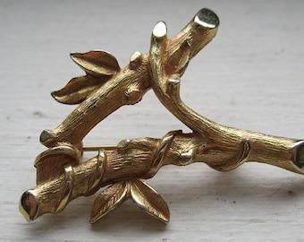 SALE/Vintage twig brooch signed sarah coventry