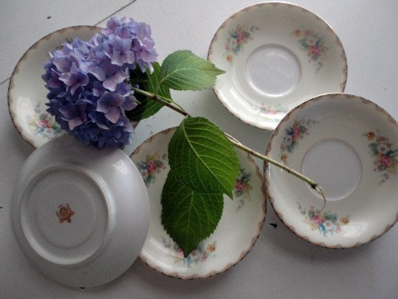 Set of 5 Vintage Saucers