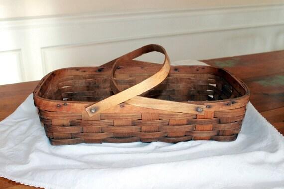 Vintage Basket with Handles