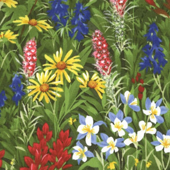 Texas Wildflowers Iv Moda Fabric 1 Yard 100 By