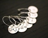 Wine Charms - Personalized Custom - Wedding Shower Favor Hostess Gift Decor