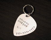 Guitar Pick - Pet ID Tag Sterling Silver