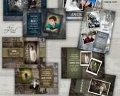 Graduation Announcement Templates for Photographers - JUST FOR GUYS Collection - 5x7 Senior Cards
