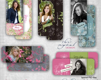 "Senior  Rep Cards / Millers/ Mpixpro Lab - ""JUST FOR GIRLS"" Collection - Photoshop templates for Photographers"