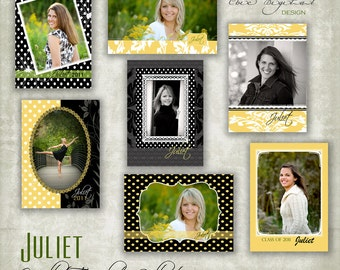 Wallet Photoshop Templates for Photographers - 2.5 x 3.5 - JULIET  Collection
