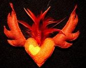 Wish Pin Pillow - Fire Heart
