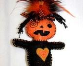Pumpkin Voodoo Wishing Doll