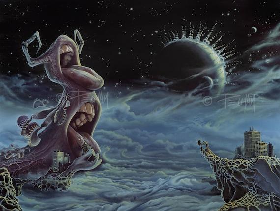 Venus Flytrap Monster Giclee Print - The Venus of Mass Consumption