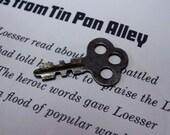 Shabby Chic Steampunk Corrugated Shaft Cloverleaf Key