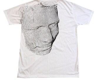 SALE, Face T-Shirt, White t shirt, Summer shirt