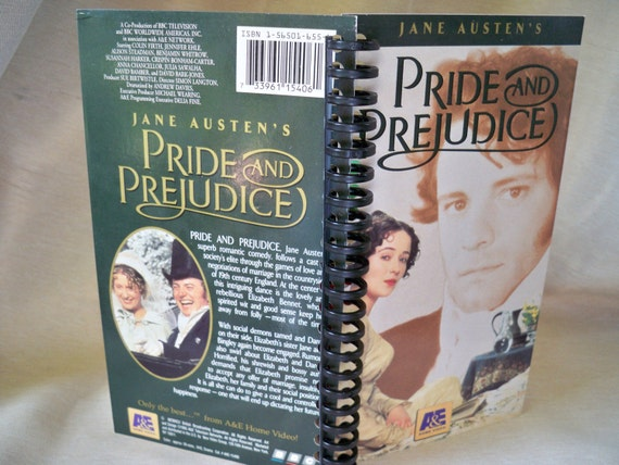 Pride and Prejudice VHS box notebook (back cover: newlywed Bingleys)