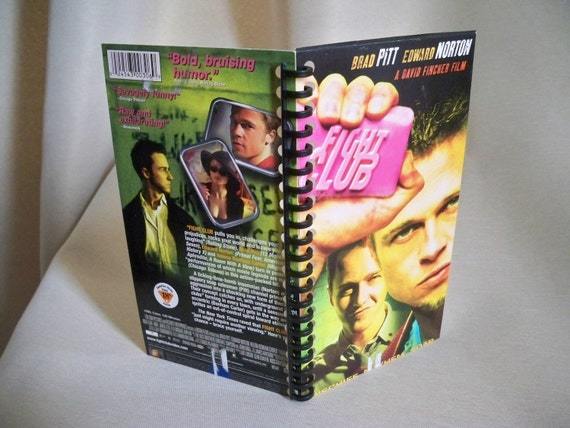 Fight Club VHS tape box notebook