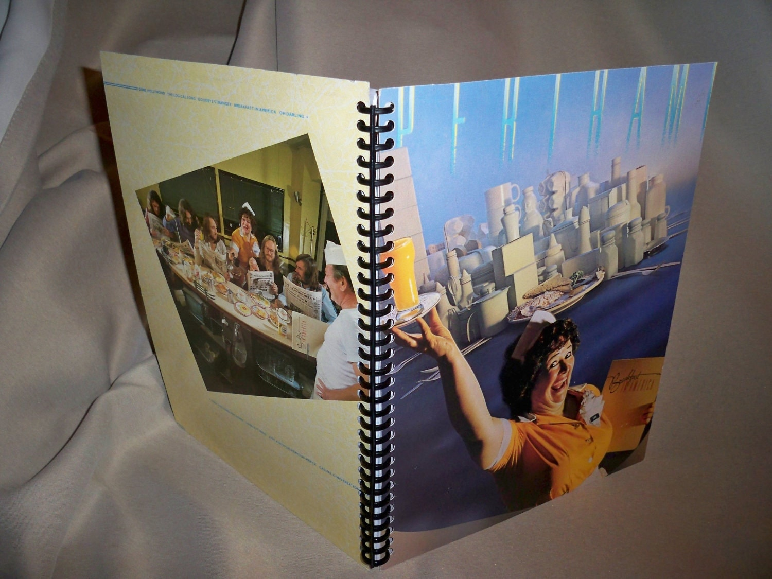 Supertramp Breakfast In America Album Cover Notebook