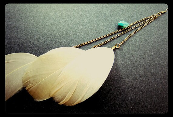 Goddess Statement Feather Earring