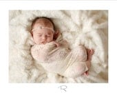 Newborn Wrap - sheer LACE stretch Wrap - Champagne -  Newborn Photo Prop - Maternity Photography Prop, Newborn Wrap
