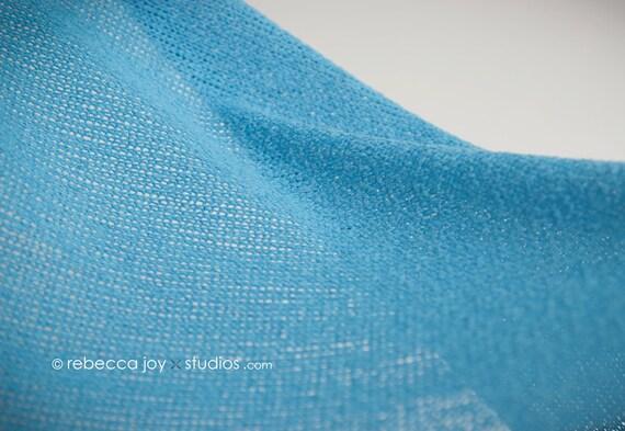 SWEATER KNIT Wrap - Sky blue - Newborn Photo Prop -  cocoon, nest, bowl, maternity, photography