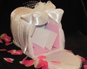 Wedding Gift Card Box -- White Satin Mailbox