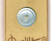 Large Vintage Mother of Pearl Shell Coat Button on Original Quality Buttons Card 1-1/16 inch 27mm MOP Sewing Button