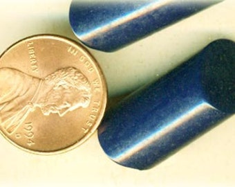 3 Vintage Blue Toggle Coat Buttons ~ Original Ultra Kraft Card ~ 1-1/16 Inch 27mm ~ Rod Bar Plastic Sewing Buttons