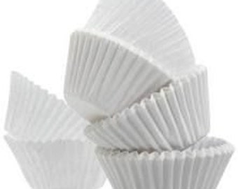 100 Pure White STANDARD SIZE Cupcake Muffin Liners Baking Cups Wrappers (Free Shipping!)
