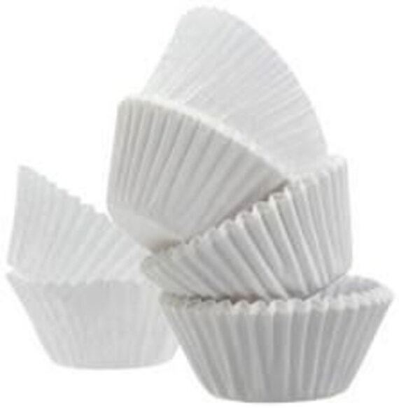 100 Pure White JUMBO LARGE SIZE Cupcake Muffin Liners Baking Cups Wrappers (Free Shipping!)