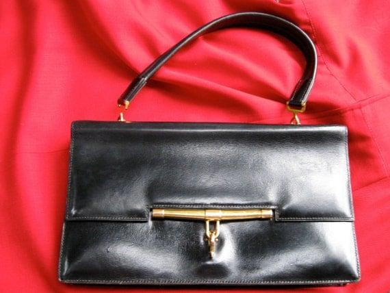 vintage Hermes Pallonier handbag purse pocketbook 1960s 60s Mad Men