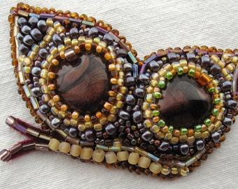 Butterfly brooch, Bead embroidery butterfly brooch, Sale was 60