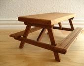 RESERVED FOR DEANNE--Large Vintage Doll Picnic Table