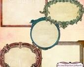 Vintage digital Frames, png clipart frames, Ornate Clipart craft supplies